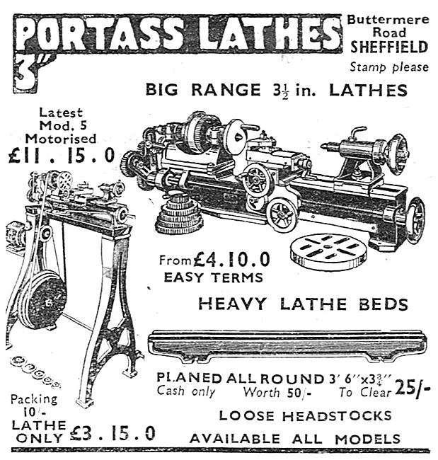 Portass Lathes. Buttermere Rd, Sheffield