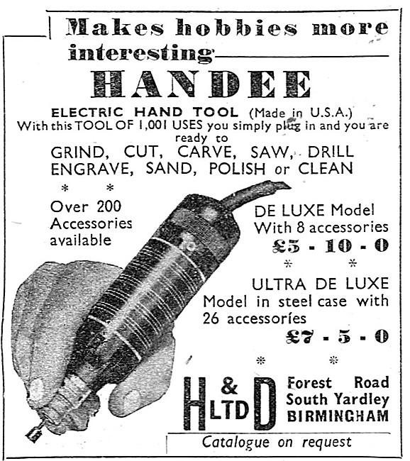HANDEE Electric Hand Tool. 1938
