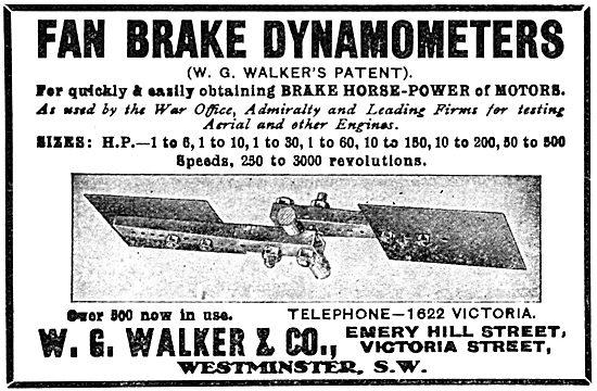 W.G.Walker. Fan Brake Dynamometer - 1916