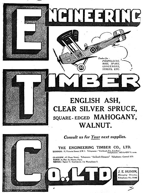 The Engineering Timber Co - Wood For Aircraft Constructors