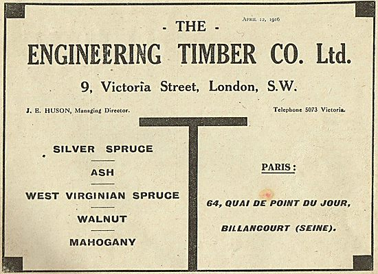 The Engineering Timber For Aeroplane Wood