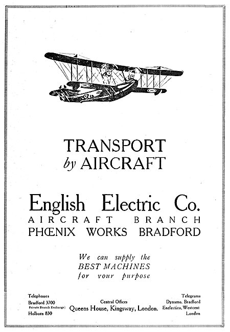 English Electric Transport Aircraft