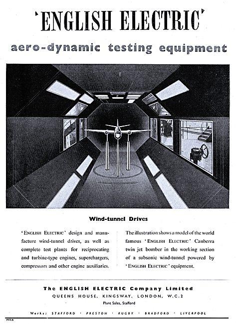 English Electric Aerodynamic Test Equipment - Wind Tunnel