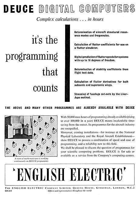 English Electric Deuce Digital Computer