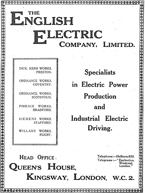 English Electric - Specialists In Electric Power Production