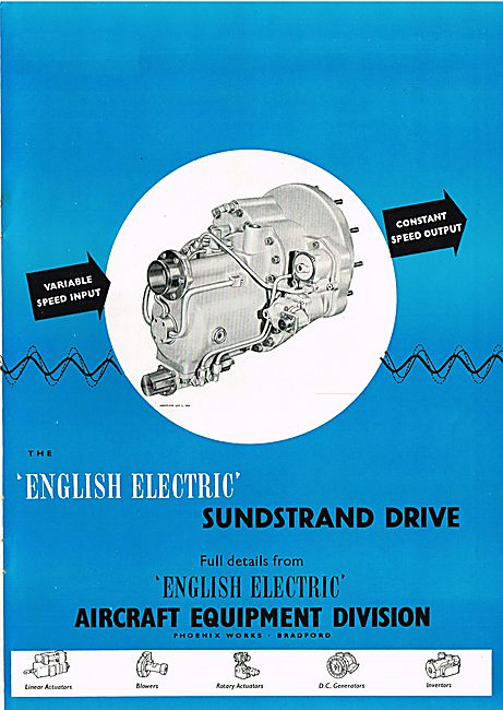 English Electric Sunstrand Division Variable Speed Actuators