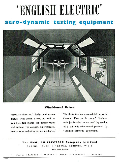 English Electric Aerodynamic Testing Equipment