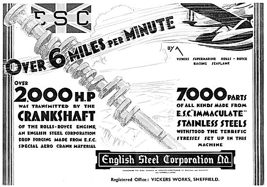 English Steel - ESC Special Aero Crank Material
