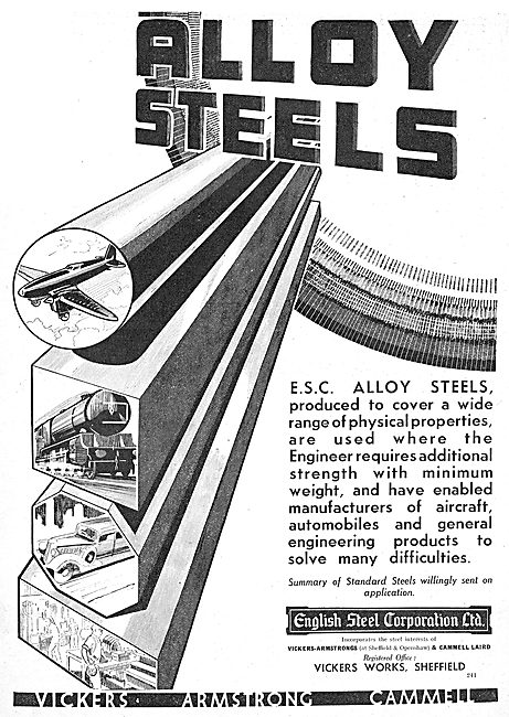English Steel - ESC Alloy Steels For Aircraft Production