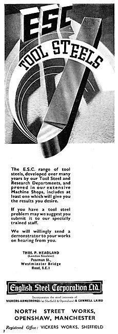 English Steel ESC Tool Steels