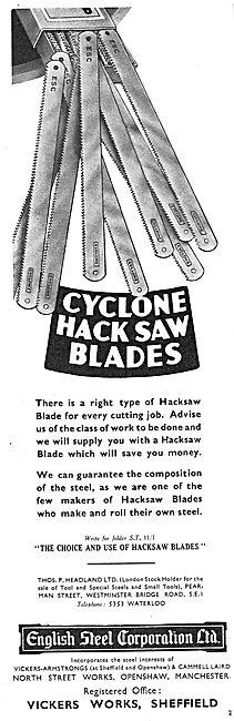 English Steel - Cyclone Hacksaw Blades