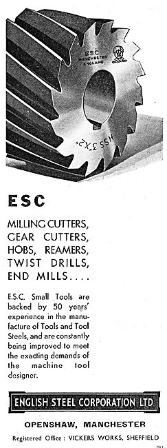 English Steel Corp: Cutters. Drills & Reamers