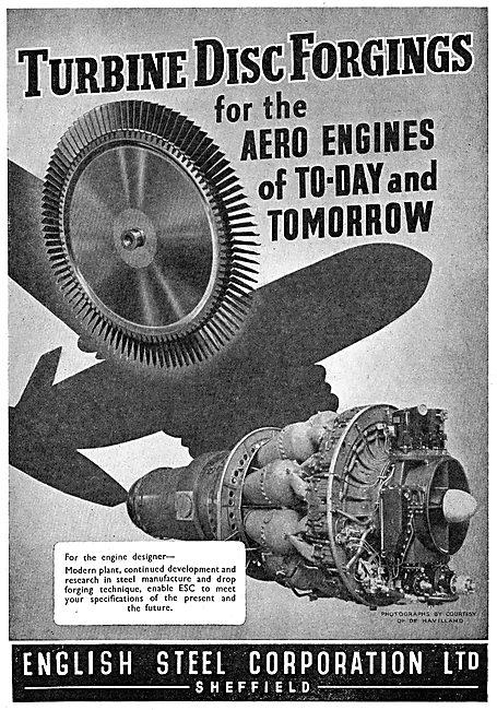 English Steel  ESC Drop Forged Turbine Discs