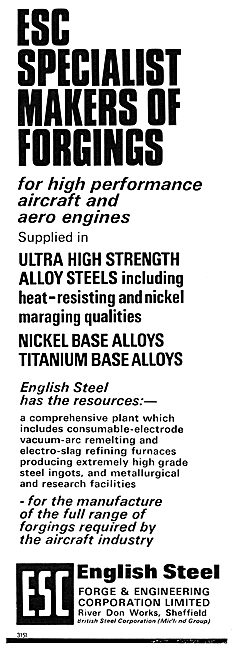 English Steel ESC Titanium & Nickel Base Alloys - Forgings