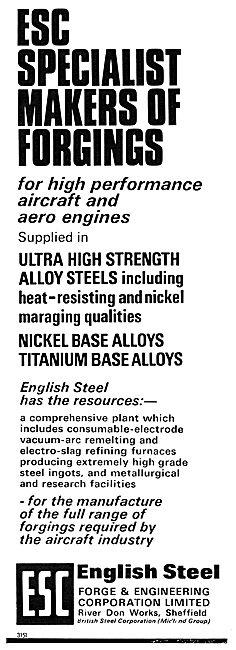 English Steel ESC Titanium & Nickel Base Alloys - Forgings