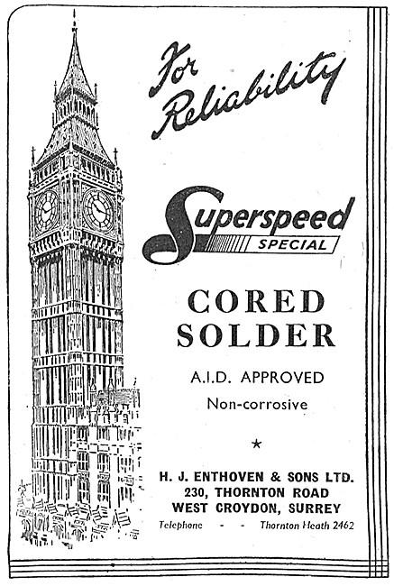 H.J.Enthoven - Superspeed Cored Solder
