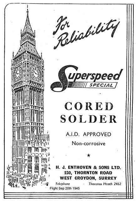 Enthoven Superspeed Special Cored Solder