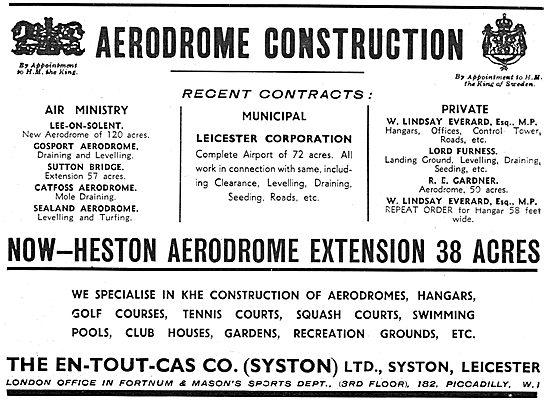 En-Tout-Cas Aerodrome Comstruction