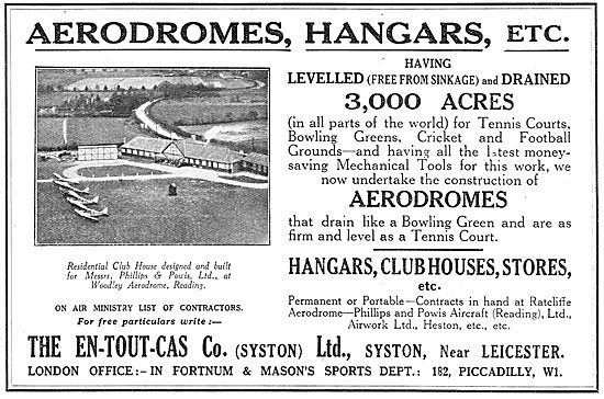 En-Tout-Cas Aerodromes & Hangars For Woodley Aerodrome