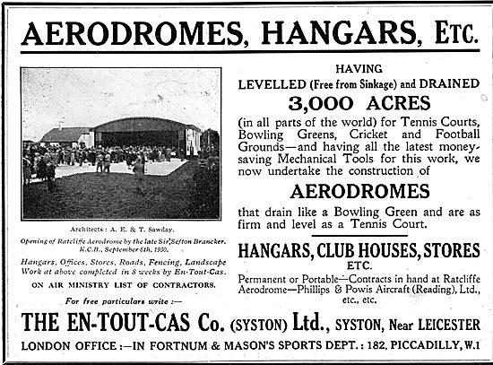En-Tout-Cas Aerodromes & Hangars - Ratcliffe