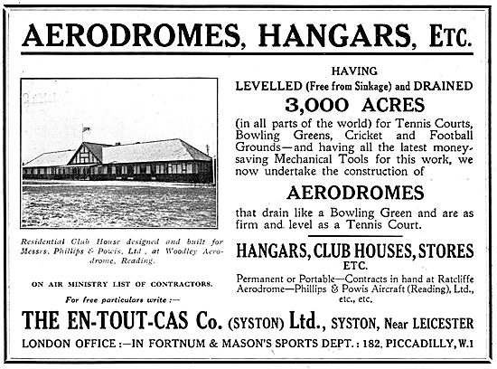 En-Tout-Cas Aerodromes & Hangars - Phillips & Powis Reading