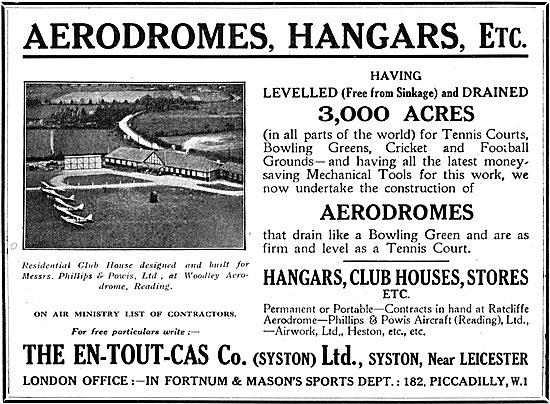 En-Tout-Cas Aerodromes & Hangars - Phillips & Powis Woodley