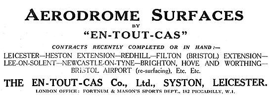 En-Tout-Cas Aerodromes & Hangars Leicester - Heston - Redhill
