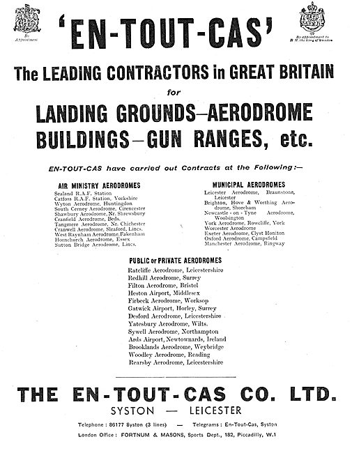 En-Tout-Cas Aerodromes & Hangars - Firing Ranges
