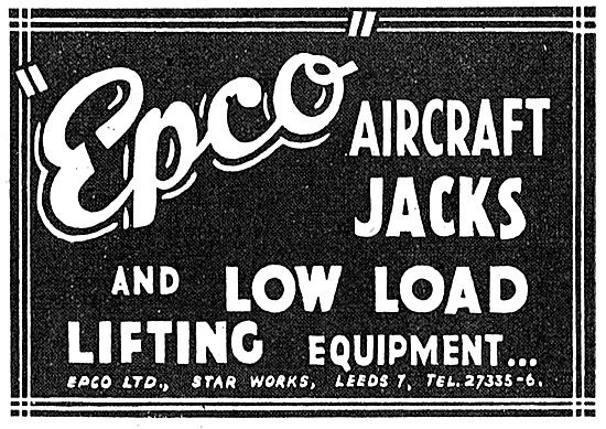 Epco Aircraft Jacks & Low Load Lifting Equipment 1943 Advert