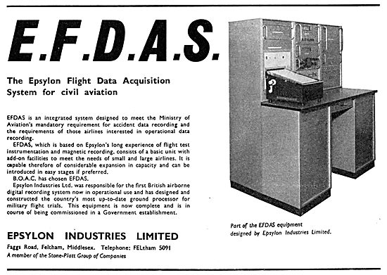 EFDAS Epsylon Flight Data Acquisition System 1965