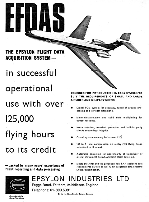 Epsylon EFDAS Flight Data Acquisition System 1967