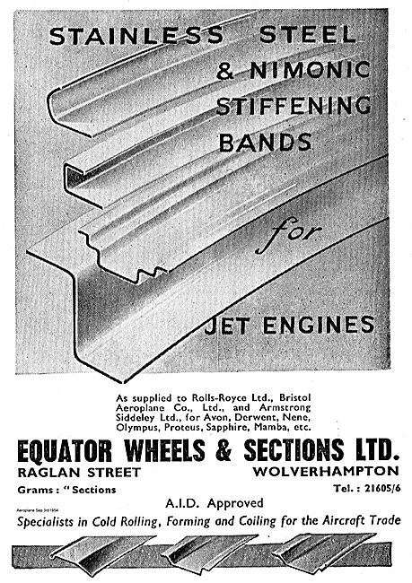 Equator Wheels & Sections Nimonic Stiffening Bands Jet Engines