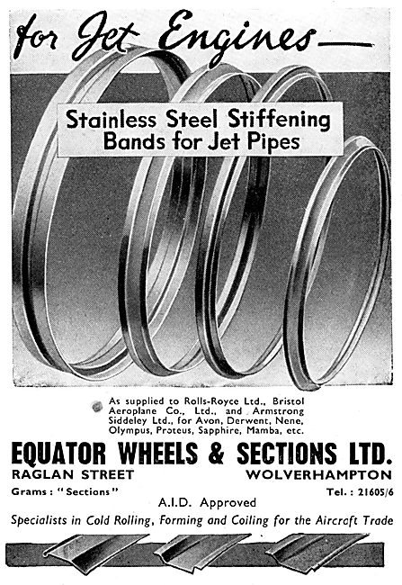 Equator Wheels & Sections Stiffening Bands For Jet Pipes