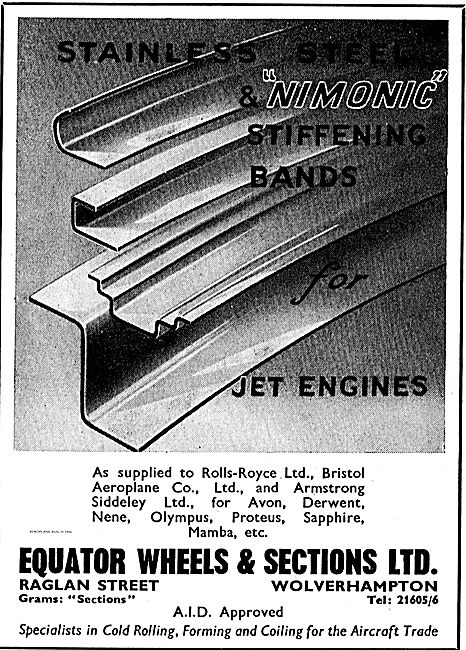 Equator Wheels & Sections Nimonic Stiffening Bands For Jet Engine