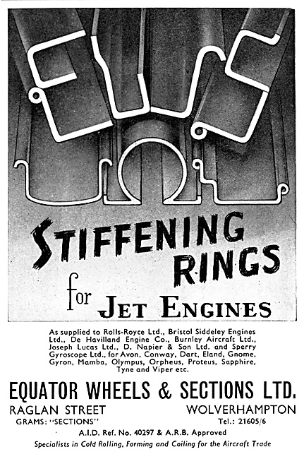 Equator Stiffening Rings For Jet Engines