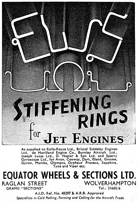 Equator Wheels & Sections : Stiffening Rings For Jet Engines