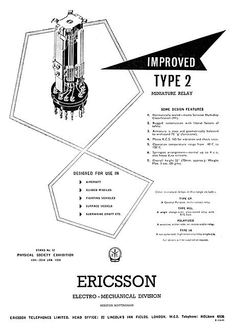 Ericsson Type 2 Miniature Relays