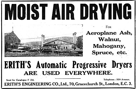 Erith's Engineering Company. - Moist Air Wood Drying Machinery