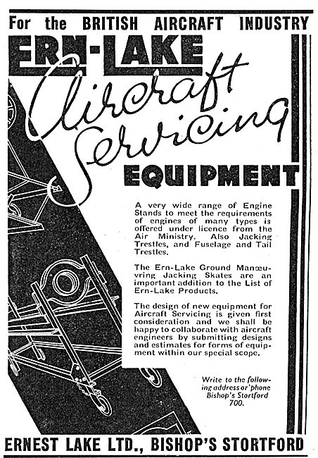 Ernest Lake Ern-Lake Aircraft Servicing Equipment
