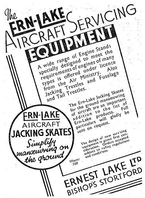 Ernest Lake Ltd: Bishop's Stortford. Aircraft Servicing Equipment