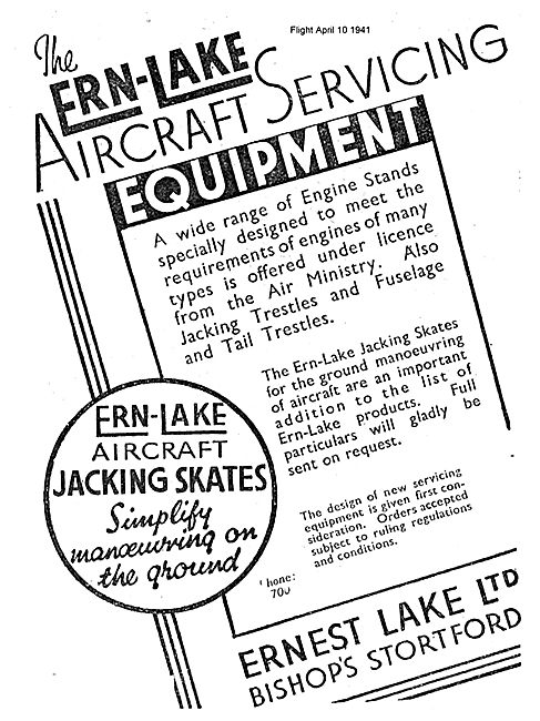 Ernest Lake. ERN-LAKE Aero Engine Stands