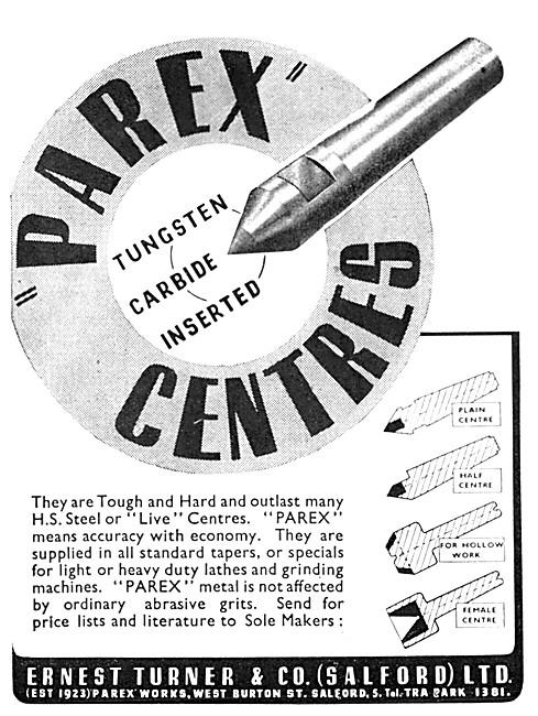 Ernest Turner PAREX Centre Punches