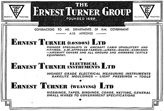 The Ernest Turner Group - Aircraft Components & Instruments