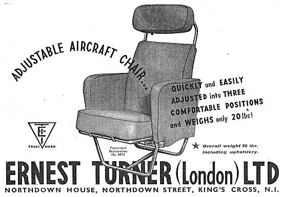 The Ernest Turner  Aircraft  Seats 1947