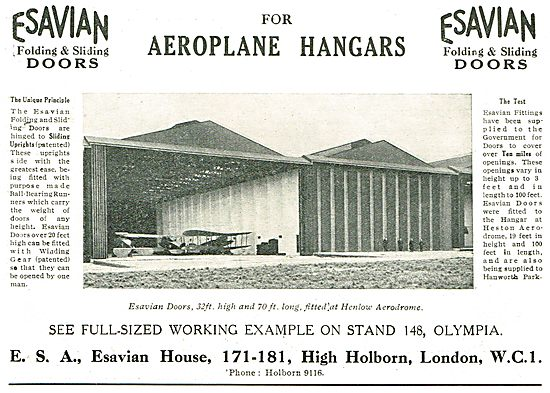 Esavian Folding And Slding Doors For Aeroplane Hangars