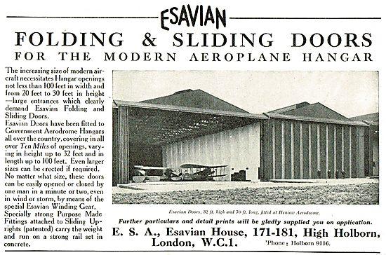 Esavian 32 x 70 Foot Hangar Doors Fitted At Henlow Aerodrome