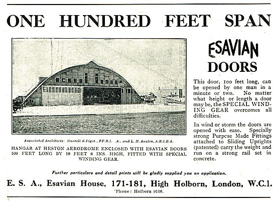 Esavian 100 Ft Span Hangar Doors Built For Heston Hangars
