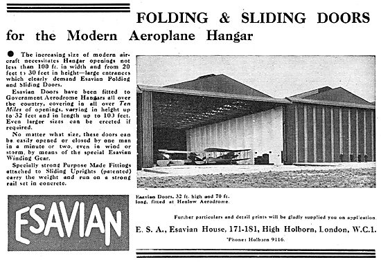 Esavian Folding & Sliding Doors For Aeroplane Hangars