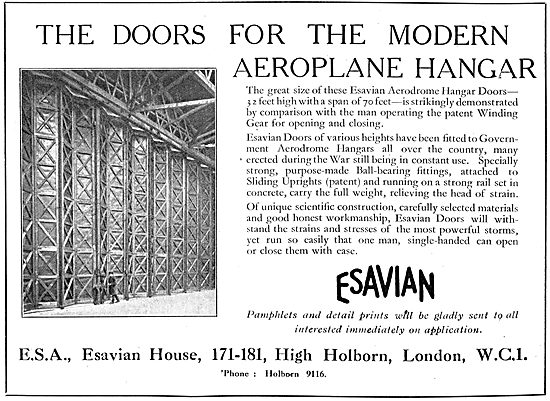 Esavian Doors For The Modern Aeroplane Hangar.