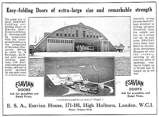 Esavian Extra-Large Folding Doors For Aircraft Hangars